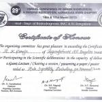 certificate of R K  Saroja 1