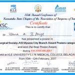 Dr Veena certificate