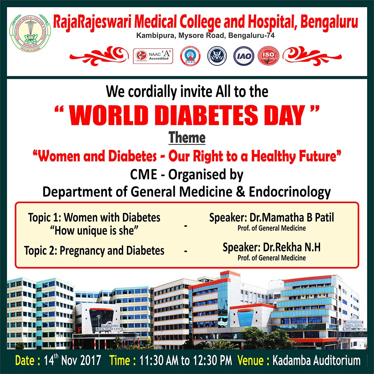 CME World Diabetes day-Invitation