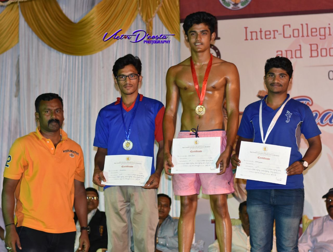 Mr. Devaduth - Gold Medal in Wight Lifting