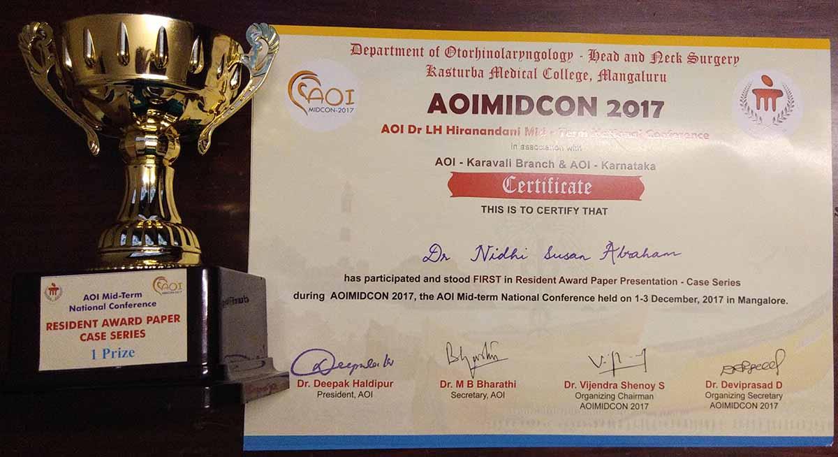 Dr Nidhi Susan-Certificate