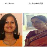 Ms Simran and Dr. Rupakala BM